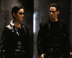 Carrie-Anne Moss i Keanu Reeves